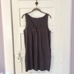 J. Crew Grey Coverup with Lace Detail